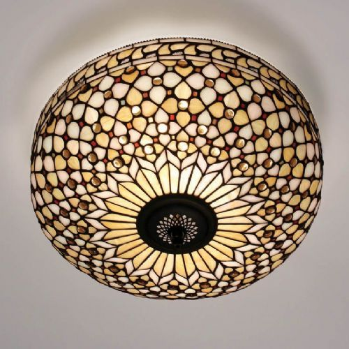 Mille Feux Flush Ceiling Light (Traditional, Flush Fitting) TO21FL (Tiffany style)